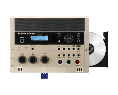 CD2u SD/CD Recorder Player with Mic & Line Inputs