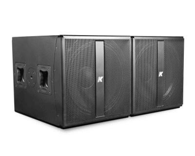 "KMT218 M-task Active 2x18"" Subwoofer with DSP & Power Out"