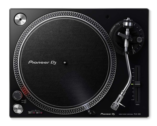 Pioneer DJ PLX500 BLACK PRO DJ Hi Torq S-Tonearm Direct Drive Turntable - Main Image