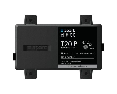 T20IP 8ohm to 100V Transformer Tapped to 20/10/5/2.5W IP