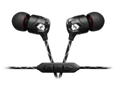 ZN3B NERO In-Ear Professional Headphones 3 Button cord BL