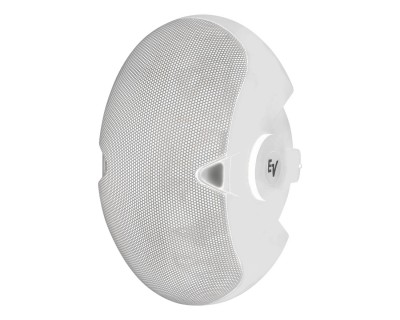 "EVID 6.2T White 2x6"" 100V In/Outdoor Speaker Inc Yoke"