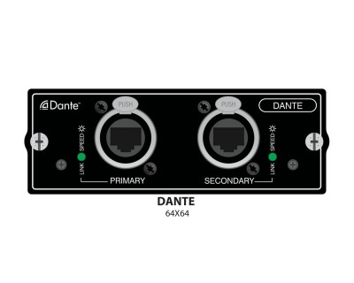 Si Dante 64x64 Interface Card for Si Series Consoles