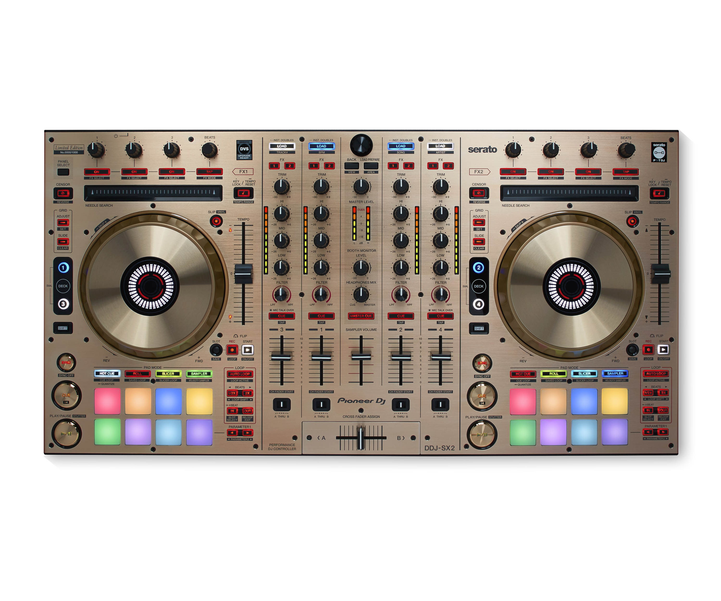 DDJSX2 GOLD LIMITED EDITION DJ S/W & Serato Flip Buttons