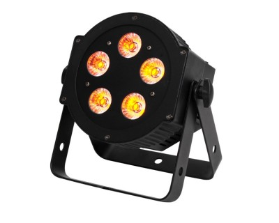 5P HEX PAR Can with 5x10W RGBAW+UV LEDs Black