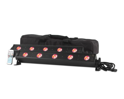 VBAR PAK with 2xVBAR LED Bars & IR Wireless Remote & Bag