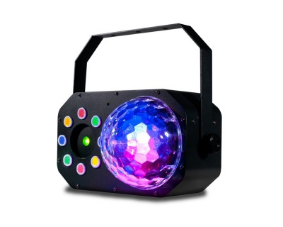 Stinger Star Dome 3-in-1 LED Effect w/ MoonF, Strobe & Laser
