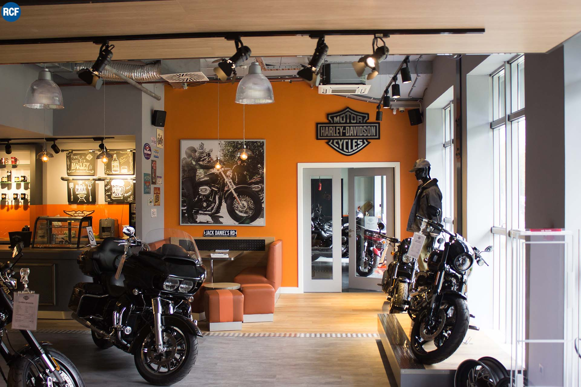 Multi-zone RCF Sound System for the new Harley-Davidson Retail Shop in Belgrade