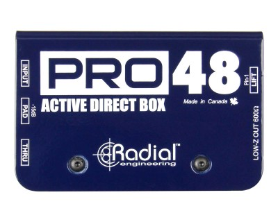PRO48 Pro-Series Phantom Powered (48V) Active DI box