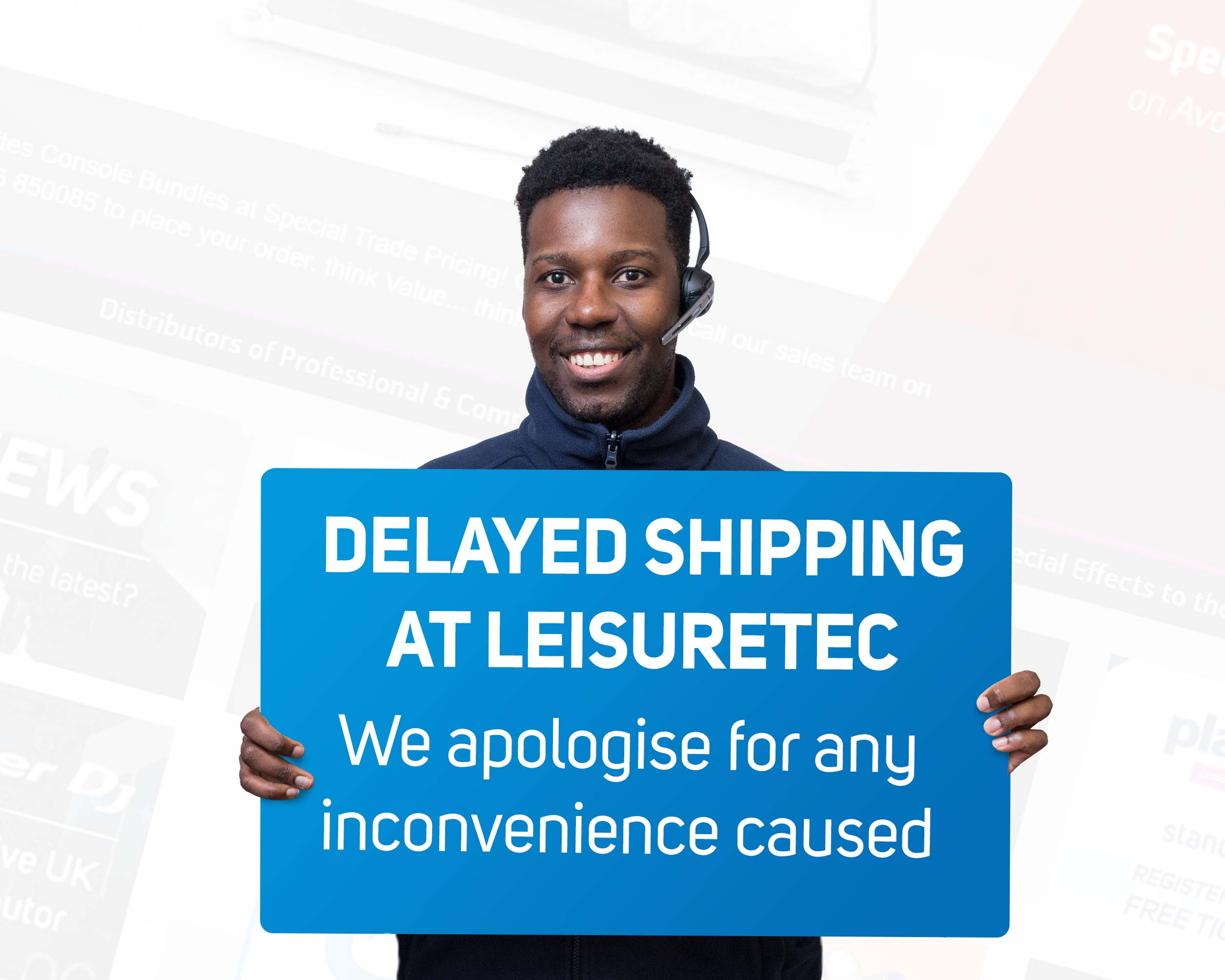 **RESOLVED - DELAYED SHIPPING AT LEISURETEC**