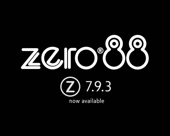 Zero 88 Release ZerOS 7.9.3 including RigSync for FLX Consoles
