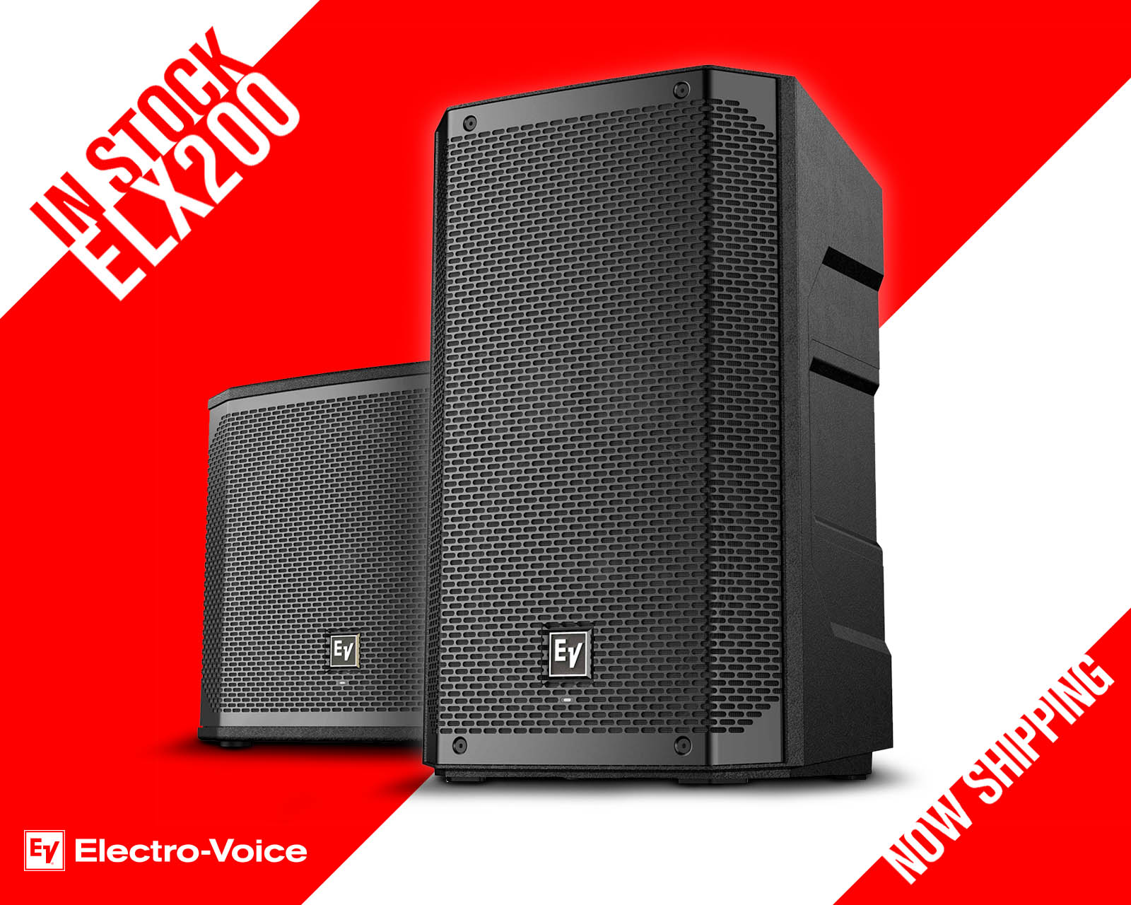 NOW IN STOCK - NEW ELX200 PORTABLE LOUDSPEAKER SERIES FROM ELECTRO-VOICE