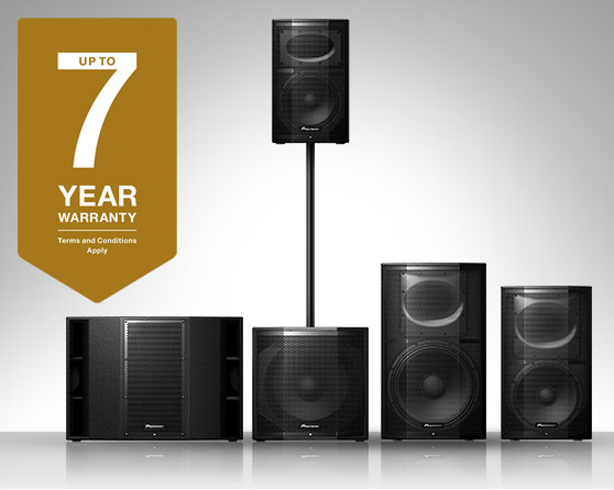 Free warranty extension for XPRS Series active speakers by Pioneer Audio