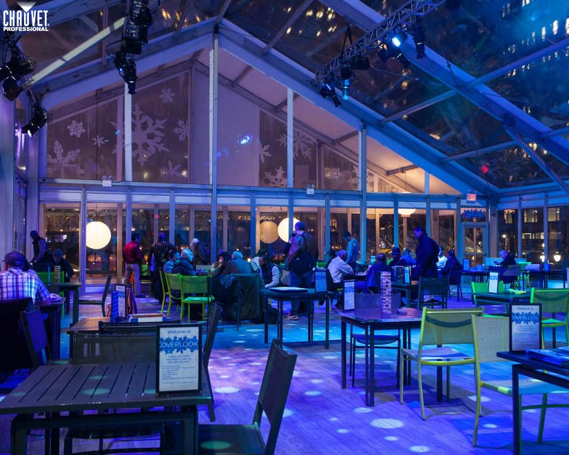 CHAUVET Professional Warms Up Bryant Park Winter Village