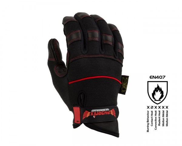 Dirty Rigger Phoenix Heat & Flame Resisting Extended Cuff Gloves (M) - Main Image