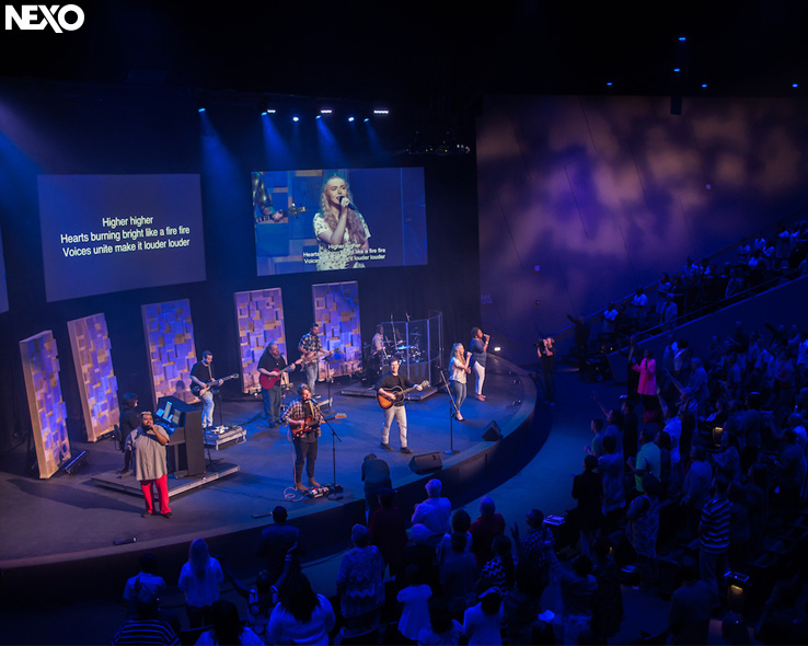 Contemporary worship music goes with NEXO