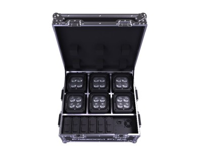 Freedom Flex H4 IP Rugged Road Case with 6x IP54 Fixtures