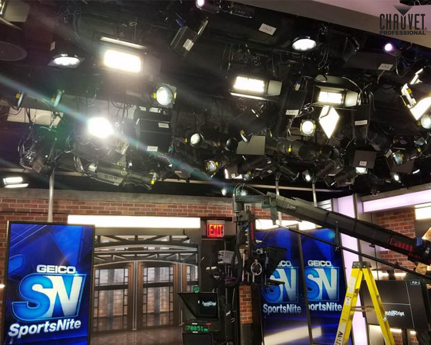 Mike Grabowski Lights Unique SNY Studios at 4 World Trade Centre With CHAUVET Professional