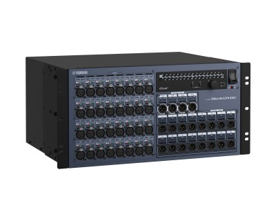 RIO3224D2 Dante Network Rack 32in/16out with Dual PSU & OLED