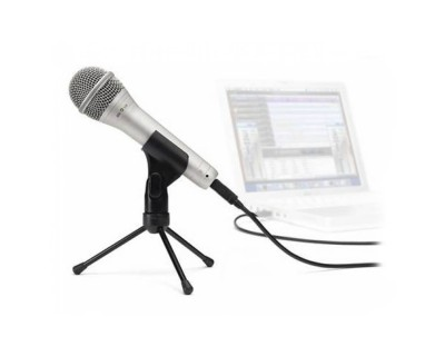 Q1U USB Dynamic Handheld Mic with Cable Desk Stand & Pouch