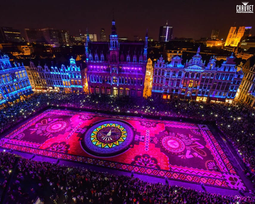 Brussels' Grand Place Biannual Flower Carpet Blooms With CHAUVET Professional