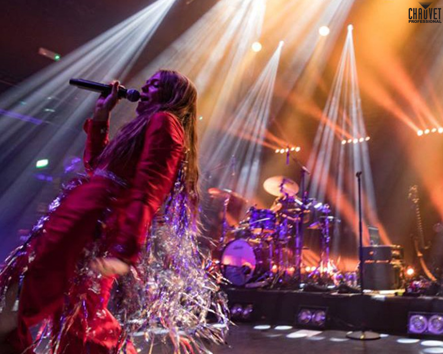 Maggie Rogers performs at KOKO with CHAUVET Professional Rogue R1 FX-B