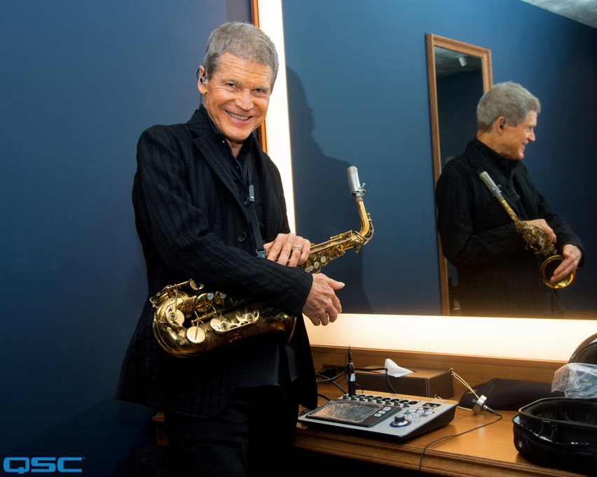 Saxophonist David Sanborn Counts on QSC TouchMix in the Studio and on the Stage