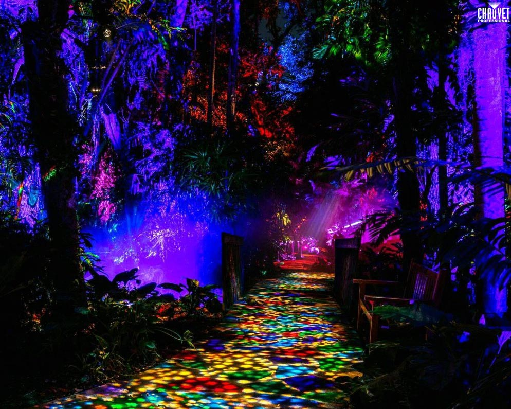 "Over 360 CHAUVET Professional Fixtures Create Immersive ""NightGarden"" at Botanic Gardens"