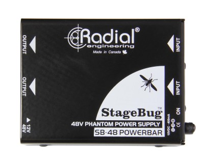 Stagebug SB48 Phantom Power Supply 48V for 2 Mics/Di Boxes