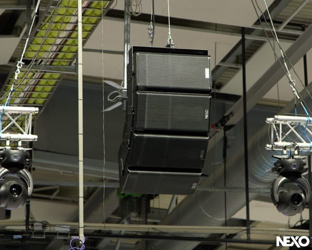 NEXO GEO S Line Array Flies Above the Ice