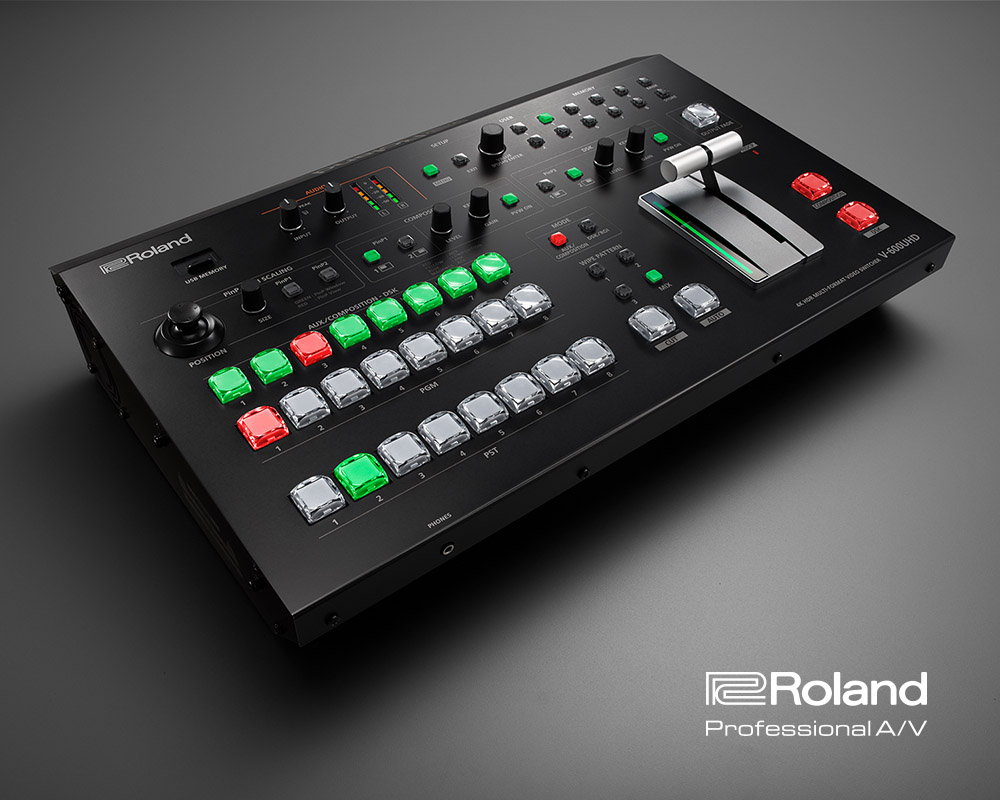 New Roland V-600UHD 4K Multi-Format Video Switcher
