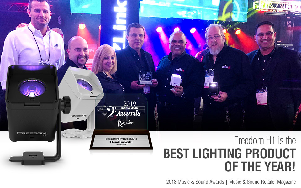 CHAUVET DJ Freedom H1 named Best Lighting Product of 2018