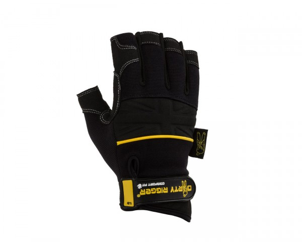 Dirty Rigger Comfort Fit Mens Fingerless Rigging / Operator Gloves (L) - Main Image