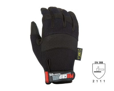 Pro Grip Gloves with Extra High Grip Silicon Palm (L)