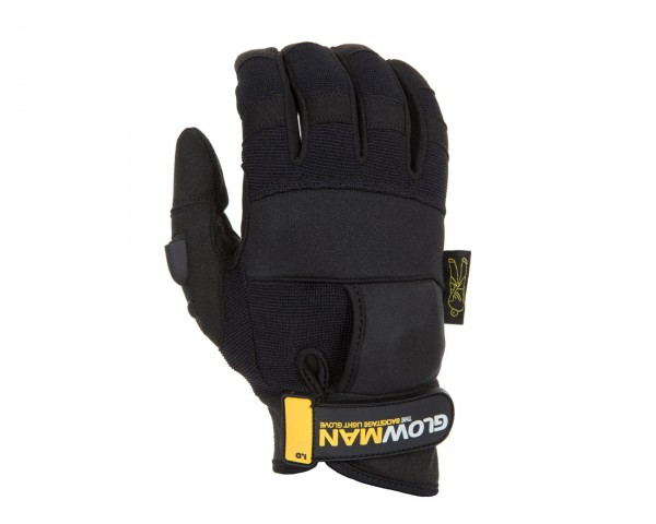Dirty Rigger GlowMan Gloves with Constant/Pulse Thumb Mounted LED (M) - Main Image