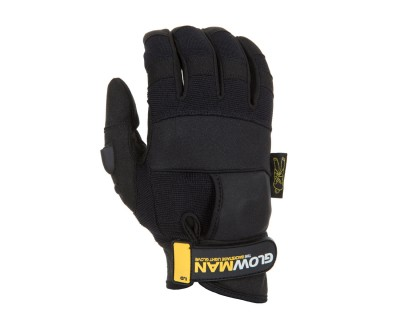 GlowMan Gloves with Constant/Pulse Thumb Mounted LED (L)