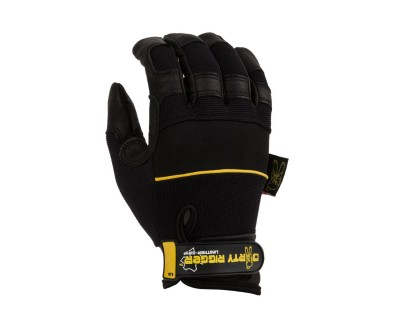 Leather Heavy Duty Full Finger Rigging / Loader Gloves (L)