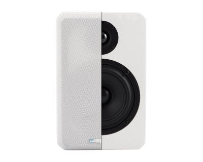 "VINCI4 White Gloss 'HiFi' 4"" 2-Way Loudspeaker 120W/6ohm"