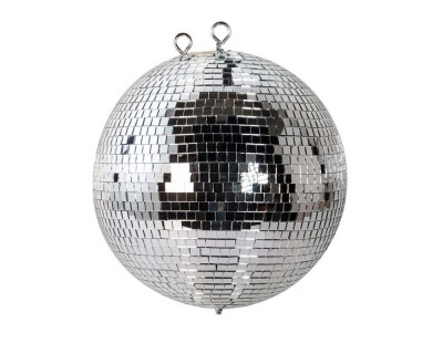 Mirrorball 30cm with Solid Plastic Core and Safety Chain
