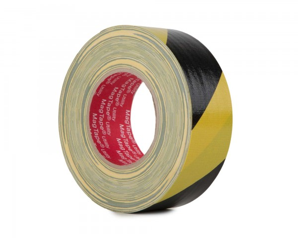 Le Mark MagTape Utility Grade Budget Gaffer Tape 50mmx50m BLACK/YELL - Main Image