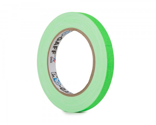 Le Mark Pro Gaff Fluorescent Gaffer Tape 12mm x 25yrds GREEN - Main Image