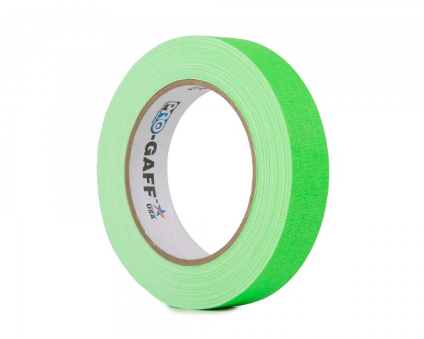 Le Mark Pro Gaff Fluorescent Gaffer Tape 24mm x 25yrds GREEN - Main Image