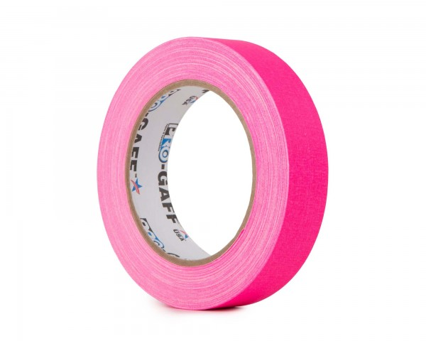 Le Mark Pro Gaff Fluorescent Gaffer Tape 24mm x 25yrds PINK - Main Image
