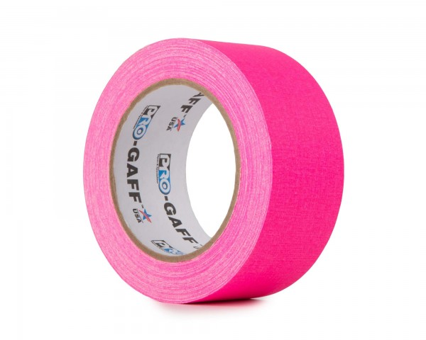 Le Mark Pro Gaff Fluorescent Gaffer Tape 48mm x 25yrds PINK - Main Image