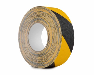 Anti Slip Tape Heavy Duty 50mm x 18.3m Roll BLACK/YELLOW