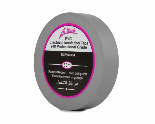 Le Mark PVC Electrical Insulation Tape 19mm x 33m Roll GREY - Main Image