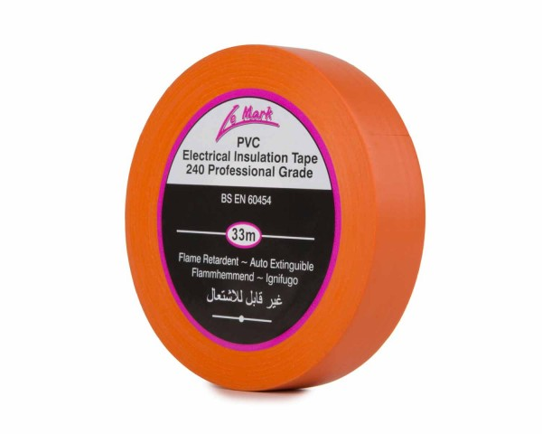 Le Mark PVC Electrical Insulation Tape 19mm x 33m Roll ORANGE - Main Image
