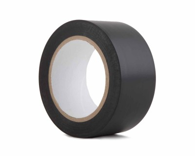 "PVC Dance Floor Marking Tape 50mmx33m (3"" Core)  MATT BLACK"