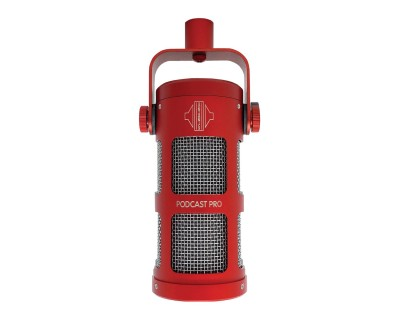 PODCAST PRO Dynamic Supercardioid Podcast/Broadcast Mic RED
