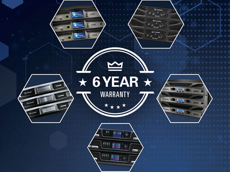 Crown Amplifiers 6-Year Warranty Extension Promotion